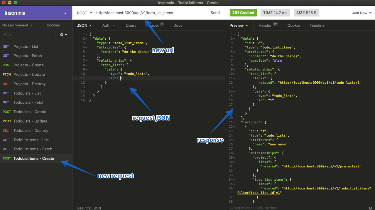 create todo list item screenshot
